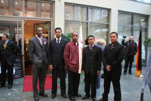 La délégation Malagasy